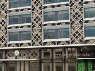 Facade metal wall paneling project in Philippines