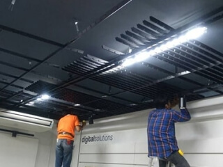 Open cell ceiling tiles project in Thailand