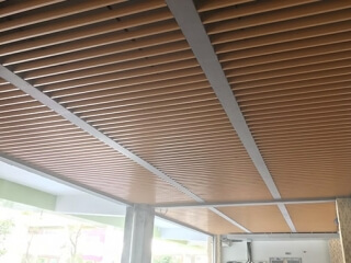 Aluminum Baffle Ceiling Project In China