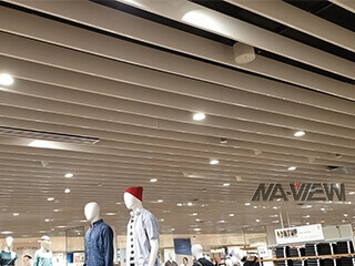 Baffle Ceiling Project in Singapore Uniqlo
